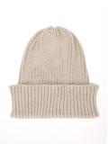 カジュアルリブ編みニット帽
