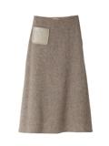 ミモレフレアウールスカート