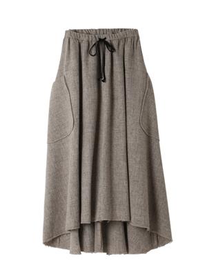 ウールロングフレアスカート