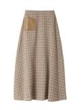 ウール混チェックロングスカート