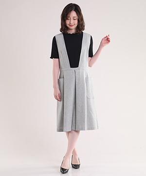 千鳥格子タックワイドジャンパースカート【Ray1月号掲載】