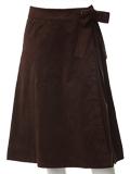 《ef-de》ラップ風スウェードスカート