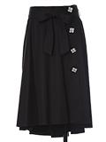 【Maglie par ef-de】フラワーフェイクビジューラップスカート