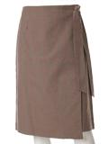 チェックデザインラップ風スカート