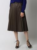 【サイト限定大きいサイズ】フェイクレザープリーツスカート