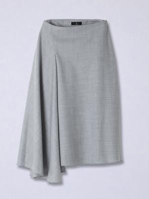 ウールミドル丈フレアスカート