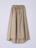 バックロングウール混スカート