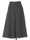 【13・15号】ラメツイードミモレ丈スカート