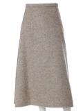 《SUPERIOR CLOSET》ウール混ロングAラインスカート