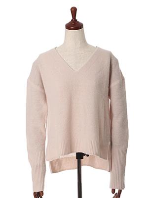 《ROBE》バックロングVネックセーター