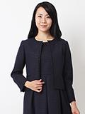 【サイト限定大きいサイズ】オリジナルノーカラーツイードジャケット【13・15号】