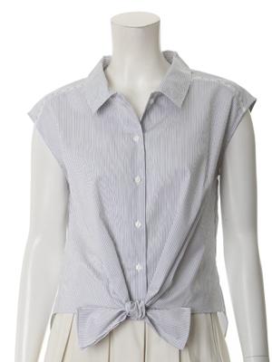 フレンチスリーブリボンシャツ