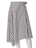【ef-de】ストライプミモレ丈スカート