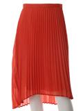 バックロングプリーツスカート