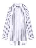ストライプ柄ワイドロングバックボタンシャツ