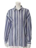 【13・15号】リーナ(R)ストライプ柄デザインシャツ
