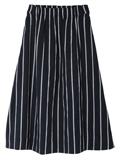 【13・15号】ストライプ柄ミモレ丈スカート