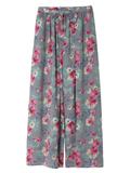 フルレングスワイド花柄パンツ