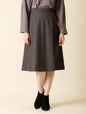 グレンチェックラインスカート