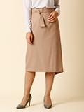 【WEB限定】リボンベルト付きAラインスカート