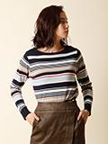 【WEB限定】マルチボーダーニットセーター