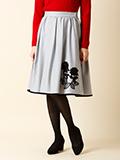 フラワー刺繍フレアスカート