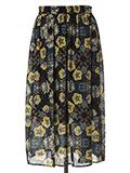 【WEB限定大きいサイズ】ボヘミアンフラワーAラインフレアスカート