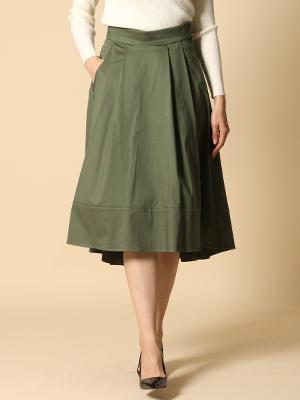 【秋の新作】バックロングフレアカラースカート【WEBoriginal】