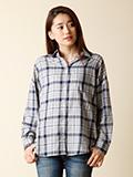 【WEB限定大きいサイズ】ワイドリラクシングシャツ《POLKA》
