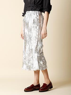 【秋の新作】メタルロングデザインスカート