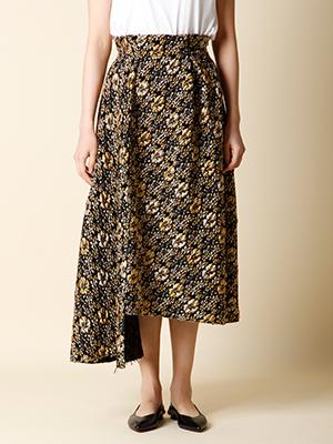 【秋の新作】フラワージャガードスカート