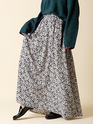 【秋の新作】サイドストラップカモフラージュロゴスカート