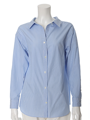 【WEB限定】ストライプレギュラーカラーシャツ