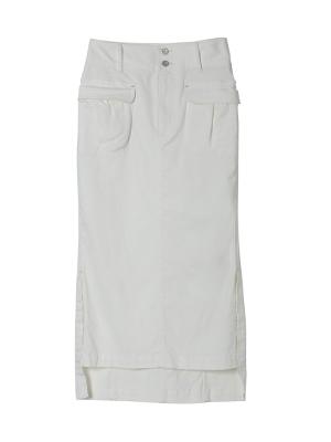 【春の新作】ストレッチミモレ丈スカート