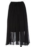 シースルーロングスカート