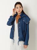 【春の新作】メープル(R)・デニムフーデットブルゾン