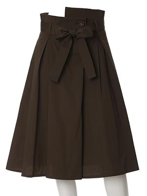フロントリボンAラインスカート