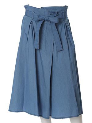 【春の新作】【ef-de】メープル(R)・デニムハイウエストスカート