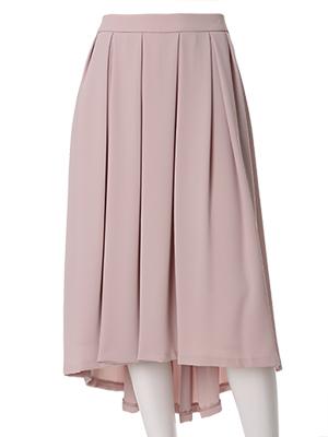 《ef-de》バックロングプリーツスカート
