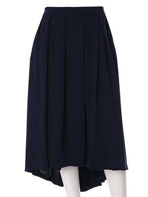 【春の新作】【ef-de】バックロングプリーツスカート