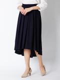 【サイト限定大きいサイズ】バックロングタックフレアスカート