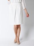 【サイト限定大きいサイズ】パールニットタイトスカート《洗えるセットアップ》
