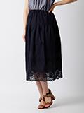 【WEB限定大きいサイズ】刺繍カッティングレーススカート