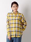 【WEB限定大きいサイズ】フレンチリネンワイドシャツ【FUDGE6月号掲載】