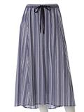 【13号】ストライプマキシ丈スカート
