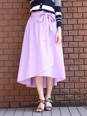 【春の新作】【INED25周年記念】ラップ風ロングスカート《KF SHORE》