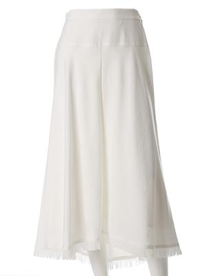 【INED25周年記念】フリンジバックロングスカート《KF SHORE》【GINGER6月号掲載】