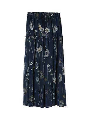 フラワーシースルースカート