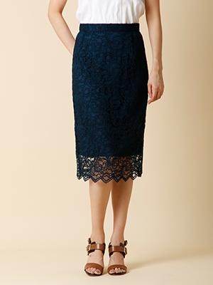 《Purete de ined》総レースIラインスカート【WEBoriginal】