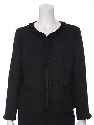 《INED》ショート丈ノーカラージャケット